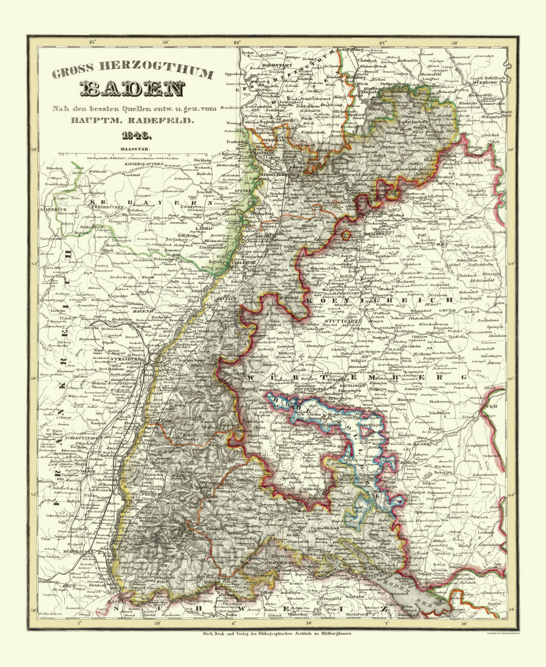 Baden Baden Germany Map