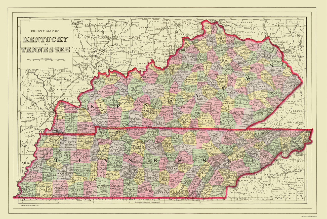 Of Map Of Ky And Tn With Cities Map Showsmy Old Kentucky