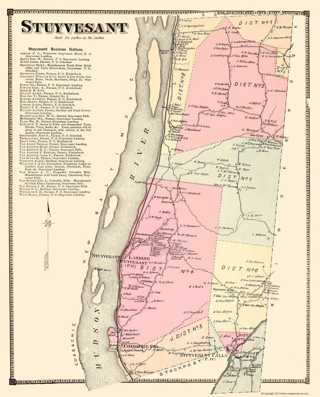 Historic city maps stuyvesant township new york for Stuyvesant ny