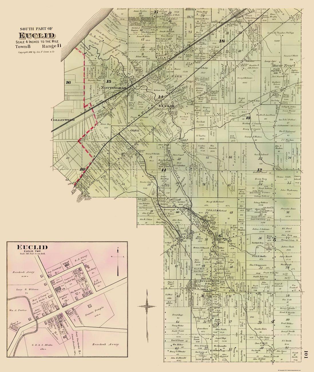 Historic City Maps  SOUTHERN EUCLID OHIO OH CITY