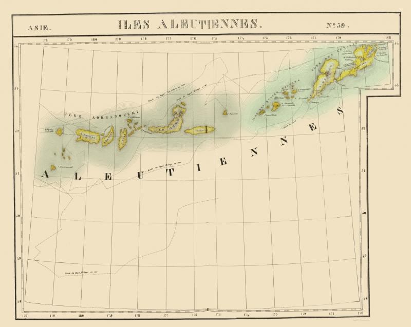 Old State Map - Aleutian Islands Alaska - Vandermaelen 1827 - 23 x on map of lesser antilles, map of new zealand, map of philippines, map of trobriand islands, cascade range, map of west indies, unalaska island, map of indonesia, map of alaska, hawaiian islands, kuril islands, adak island, kamchatka peninsula, kodiak island, bering sea, map of galapagos islands, sierra nevada, alaska peninsula, tierra del fuego, map of great lakes, map of antigua islands, battle of the aleutian islands, map of alaskan islands, diomede islands, map of diomede islands, map of kodiak island, map of virgin islands national park, attu island, map of united states, map of atka island, fox islands, map of gilbert islands, bering strait, map of singapore, map of kurile islands, map of bering island,