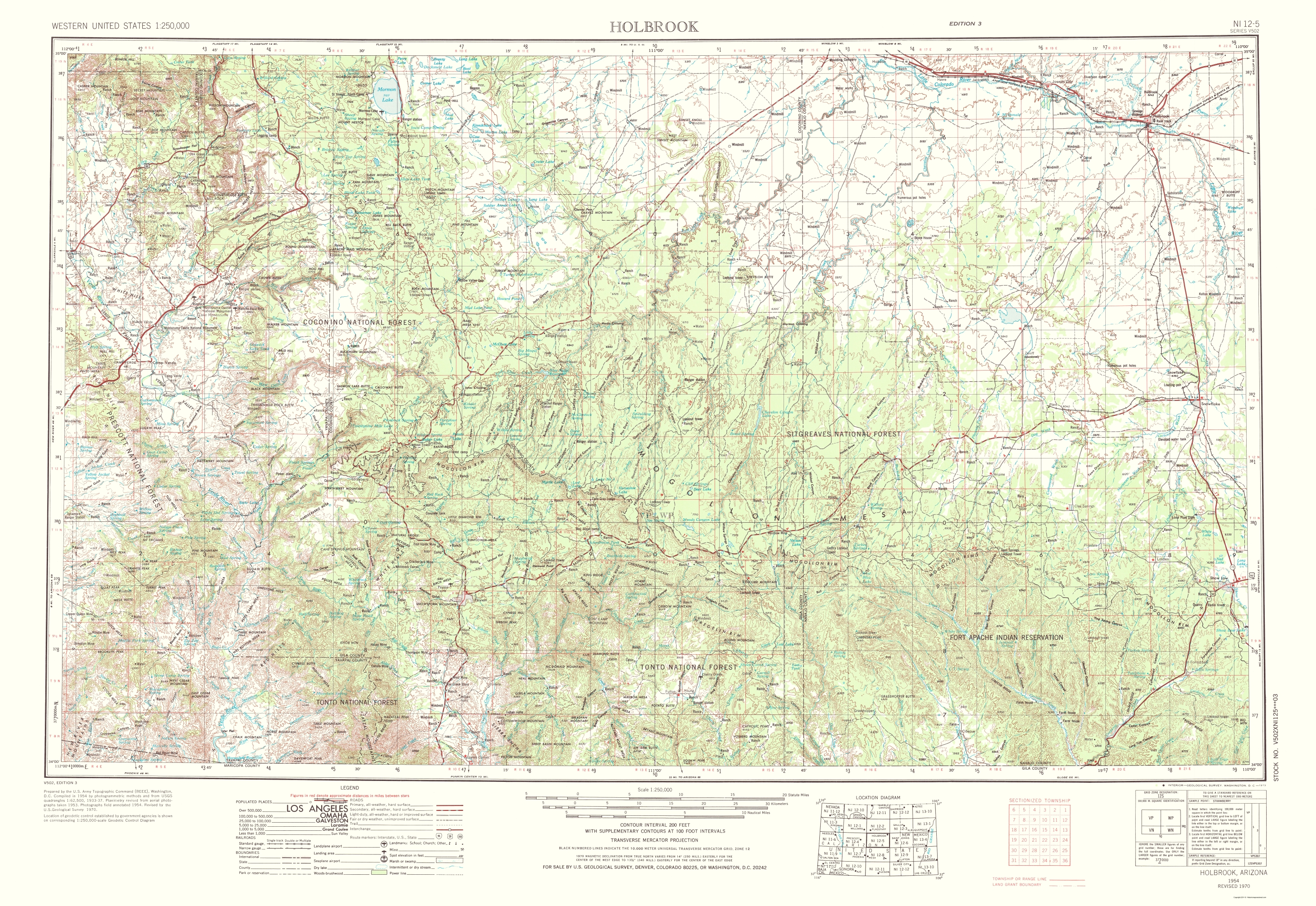 Old topographical map holbrook arizona 1973 hover to zoom sciox Images