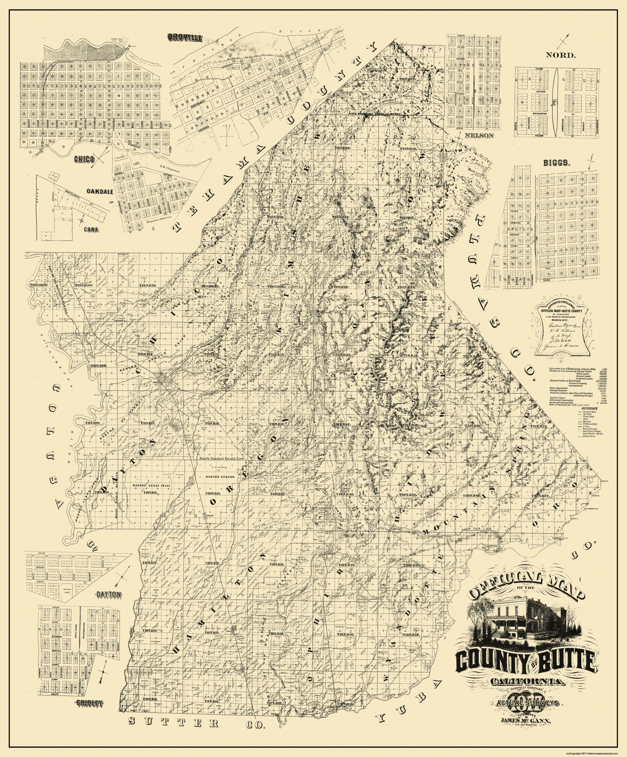Old California County Map Prints | Maps of the Past
