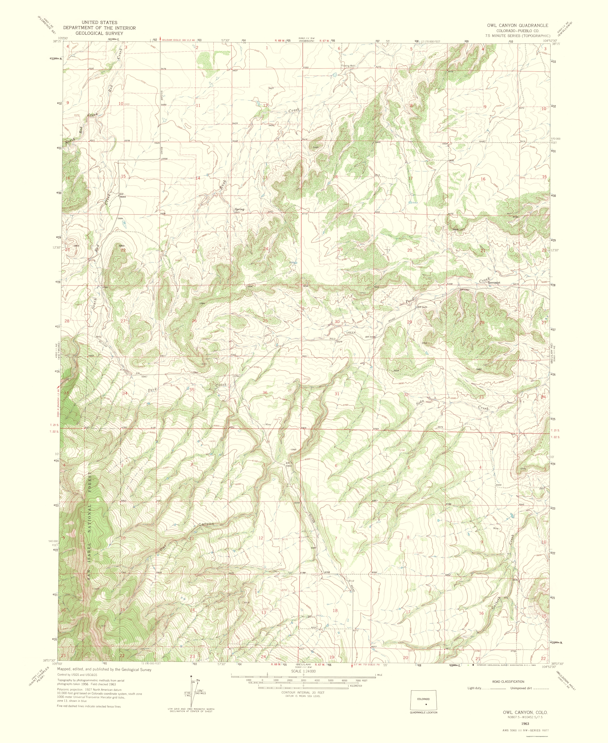Topographical Map Print - Owl Canyon Colorado Quad - USGS 1965 - 23 on mayo clinic rochester map, csu east bay map, duke map, los angeles cities map, galveston texas city map, michigan state university campus map, unc map, uc berkeley map, jcu map, piedmont tech map, university of michigan map, university of oregon campus map, stanford university map, west texas state map, hcc ybor campus map, la southwest college map, seton hall map, harvard map, university of ca map, ucla map,