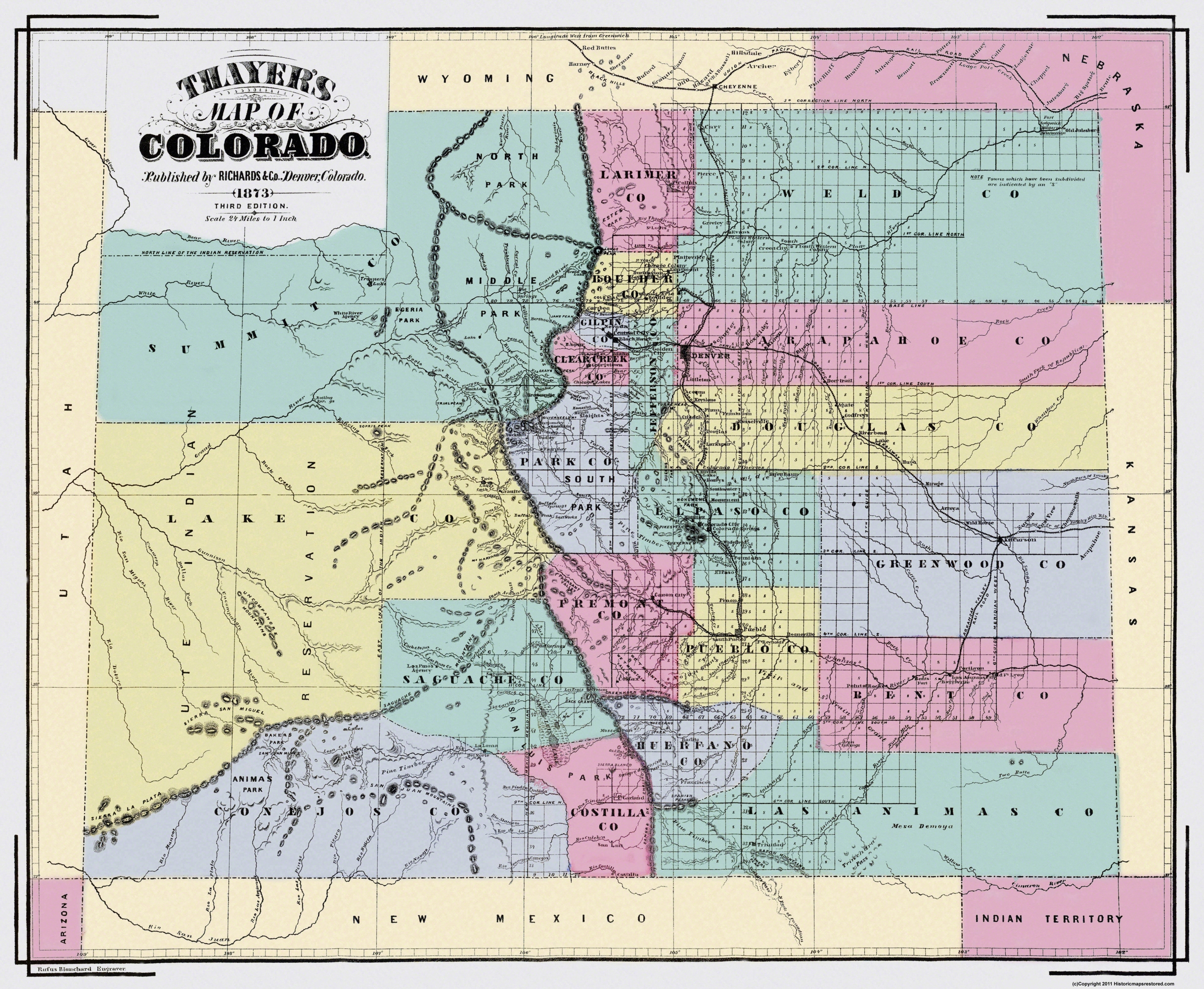 Old State Map - Colorado Territory - Richards 1873 - 28 x 23 on map of tincup colorado, map of lake granby colorado, map of clear creek county colorado, map of san isabel colorado, map of wetmore colorado, map of aguilar colorado, map of keenesburg colorado, map of gunbarrel colorado, map of silver plume colorado, map of green mountain falls colorado, map of battlement mesa colorado, map of stratton colorado, map of severance colorado, map of cherry hills village colorado, map of cheyenne colorado, map of las animas county colorado, map of arapahoe basin colorado, map of monarch pass colorado, map of flagler colorado, map of arriba colorado,