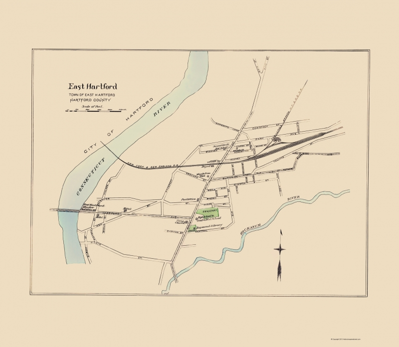 East Hartford Connecticut - Hurd 1893 - 23 x 26.44