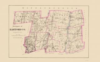 Fairfield Connecticut Landowner Clark 1856-23 x 26.88