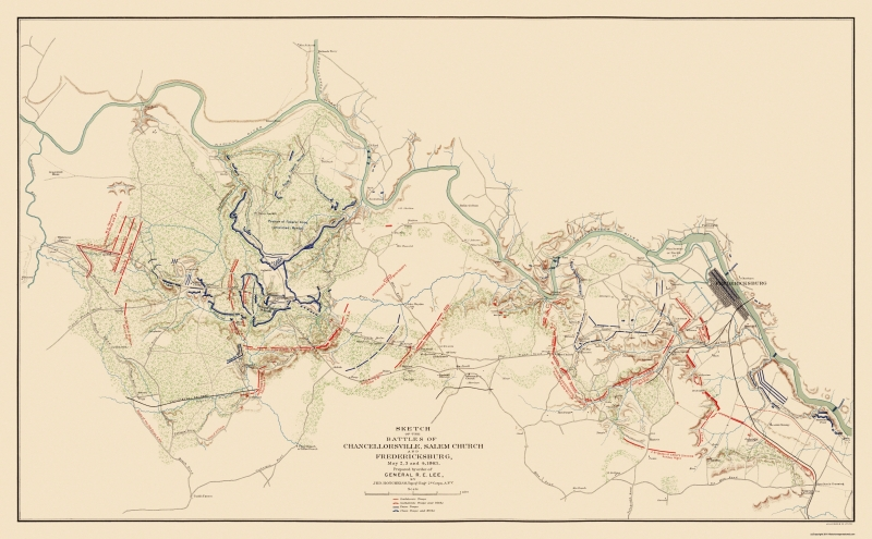Civil War Map Print - Chancellorsville & Fredericksburg - 1863 - 37.19 on map of world war i battles, map of ww1 battles, map of spanish american war battles, world war 2 battles, map of japanese attack on pearl harbor, map of 13 colonies battles, map of war of 1812 battles, war of the roses battles, map of napoleonic wars, map of revolutionary war battles, map of battle of gettysburg, map of inventions, map of europe during world war 2, map of vietnam war, map of napoleon's battles, map of abraham lincoln, map of world war 1 alliances, map of peloponnesian war battles, map of korean war, map of mexican war battles,