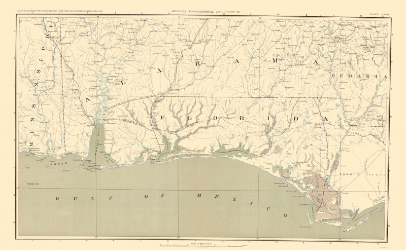 Map Of Upper Florida.Civil War Map Florida Upper Peninsula Atlas 1895