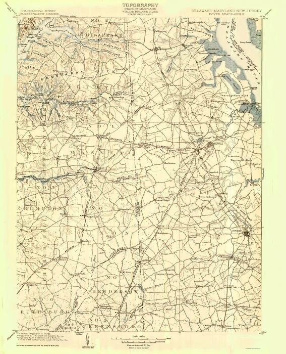 Dover De Zip Code Map.Old Topographical Map Dover Delaware 1904