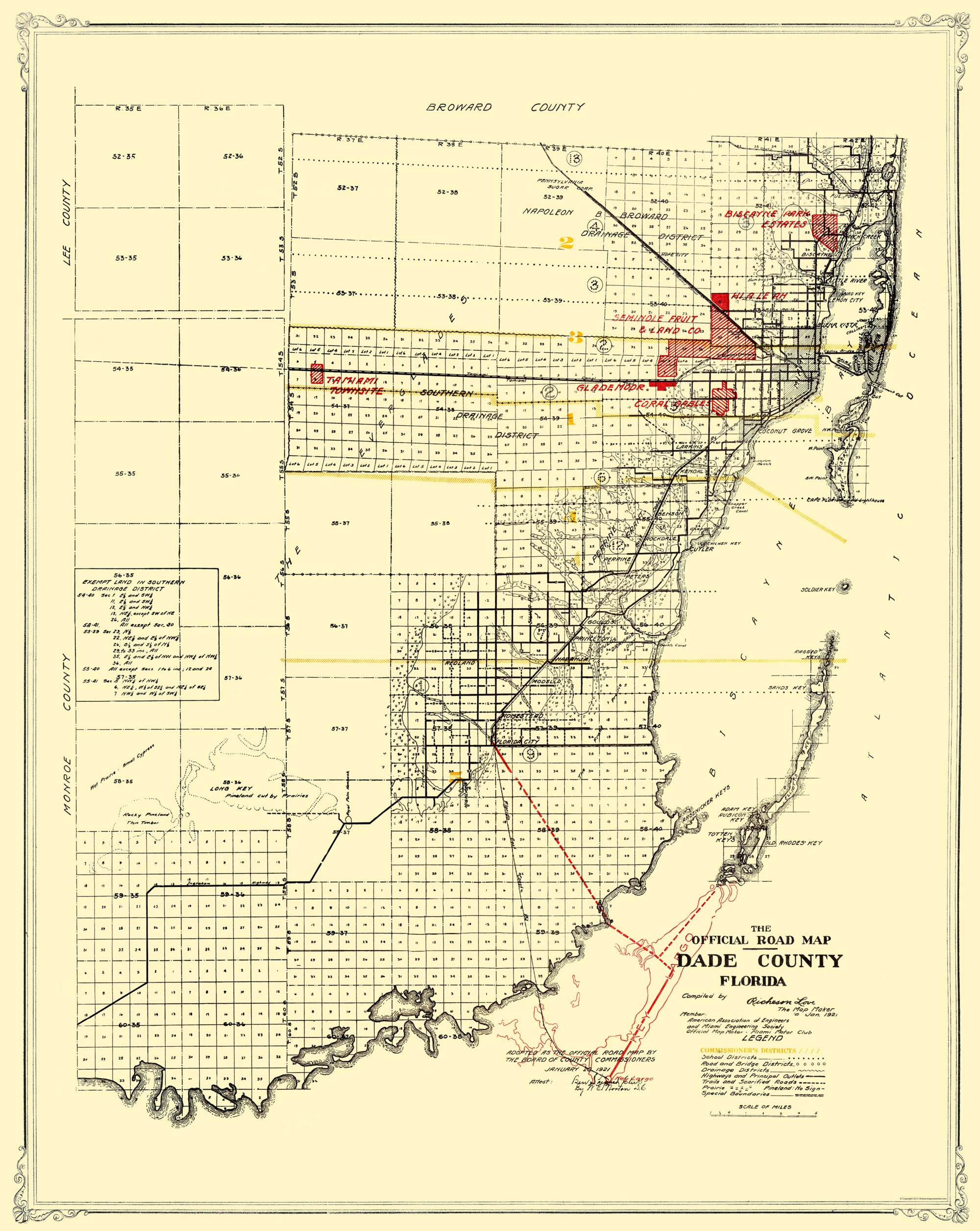 map of miami dade county - maps for you