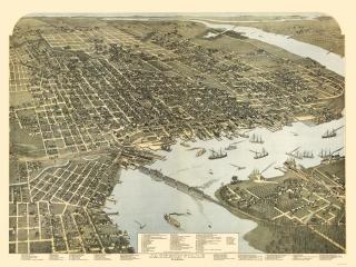 Panoramic Print Beck 1884-23 x 42.02 Deland Florida