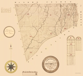 Old Georgia County Map Prints Maps Of The Past - Georgia county maps