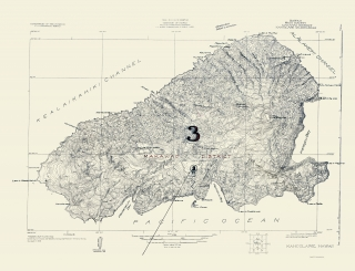 Old Hawaii Topographic Map Prints | Maps of the Past