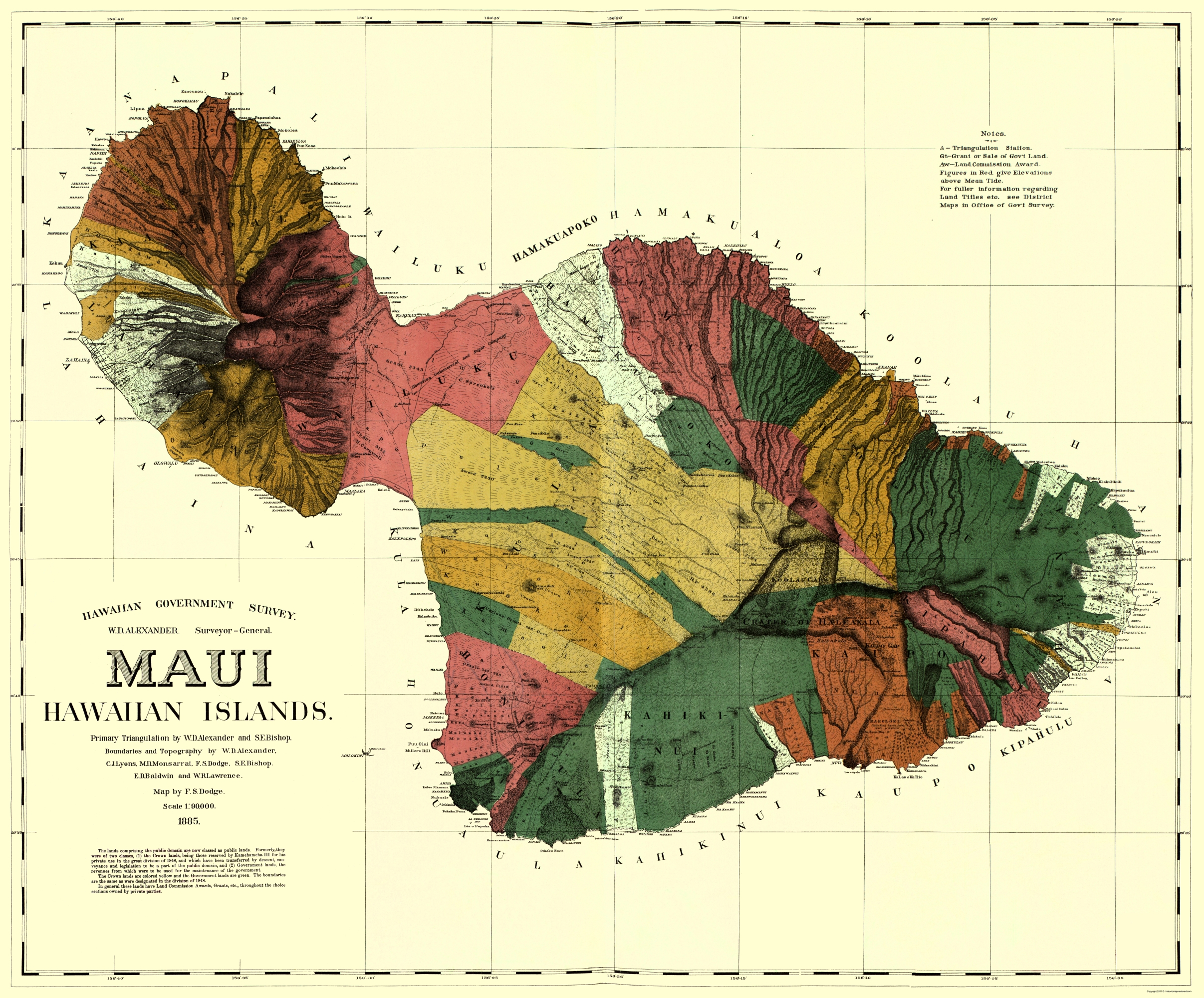 Old county map maui hawaii dodge 1885 double tap to zoom thecheapjerseys Choice Image