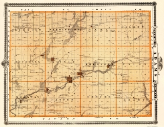 Old Iowa Map.Old Iowa County Map Prints Maps Of The Past