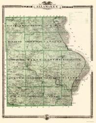 Old Iowa County Map Prints Maps of the Past