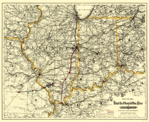 Old Indiana Railroad Maps Maps Of The Past - Indiana maps