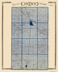 Old Indiana County Map Prints Maps Of The Past - Indiana county map