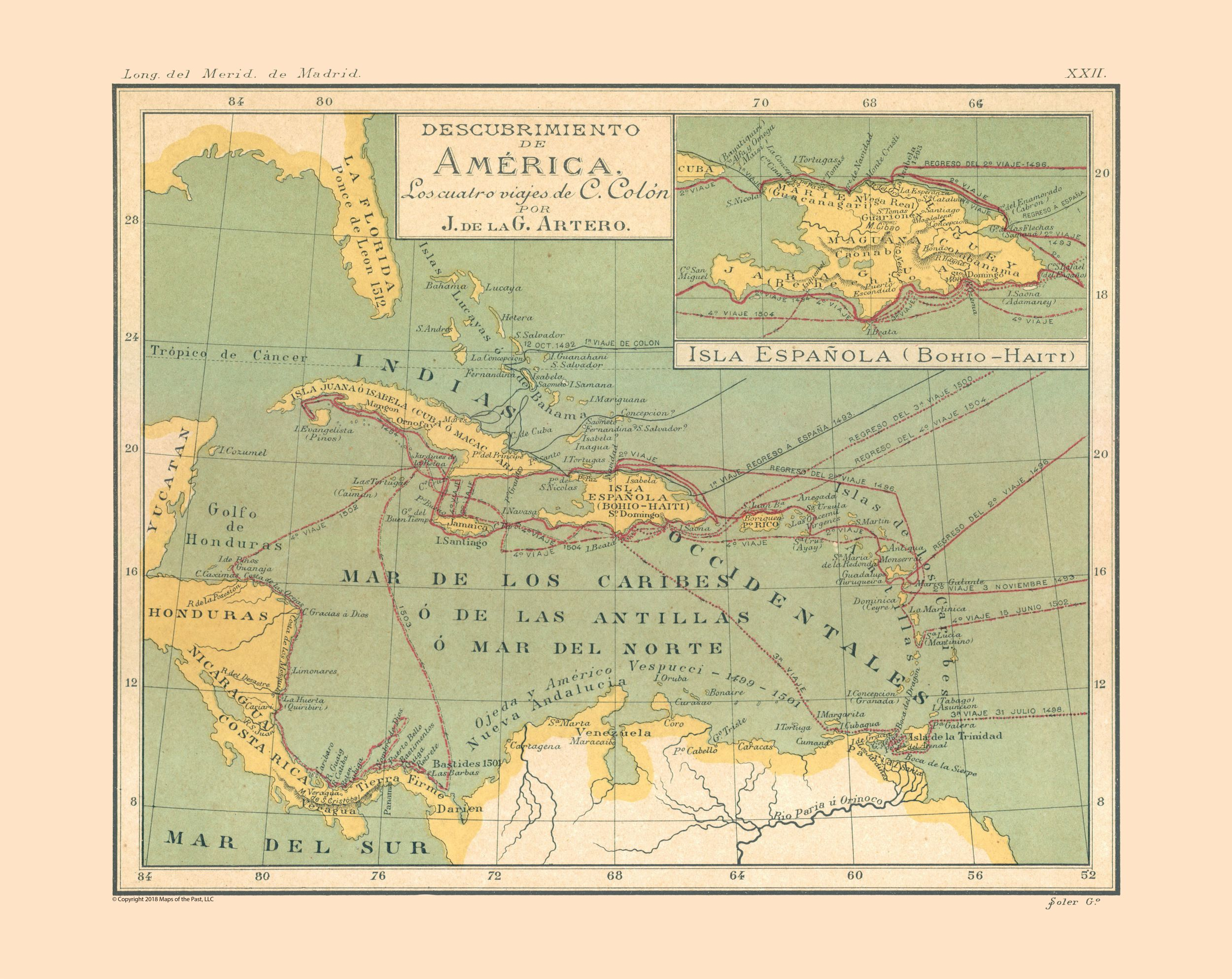 International Map - America's Discovery - Artero 1879 - 28.94 x 23 on historical world map, adventure map, flying horse map, smithsonian map, the china map, international space station map, daybreak map, dayton street map, ancient world map, graceland map, best africa map, longfellow map, national geographic us map, yarmouth ma map, escape map, the physical world map, abbey road map, voyageur map, montauk village map, united states weather map,