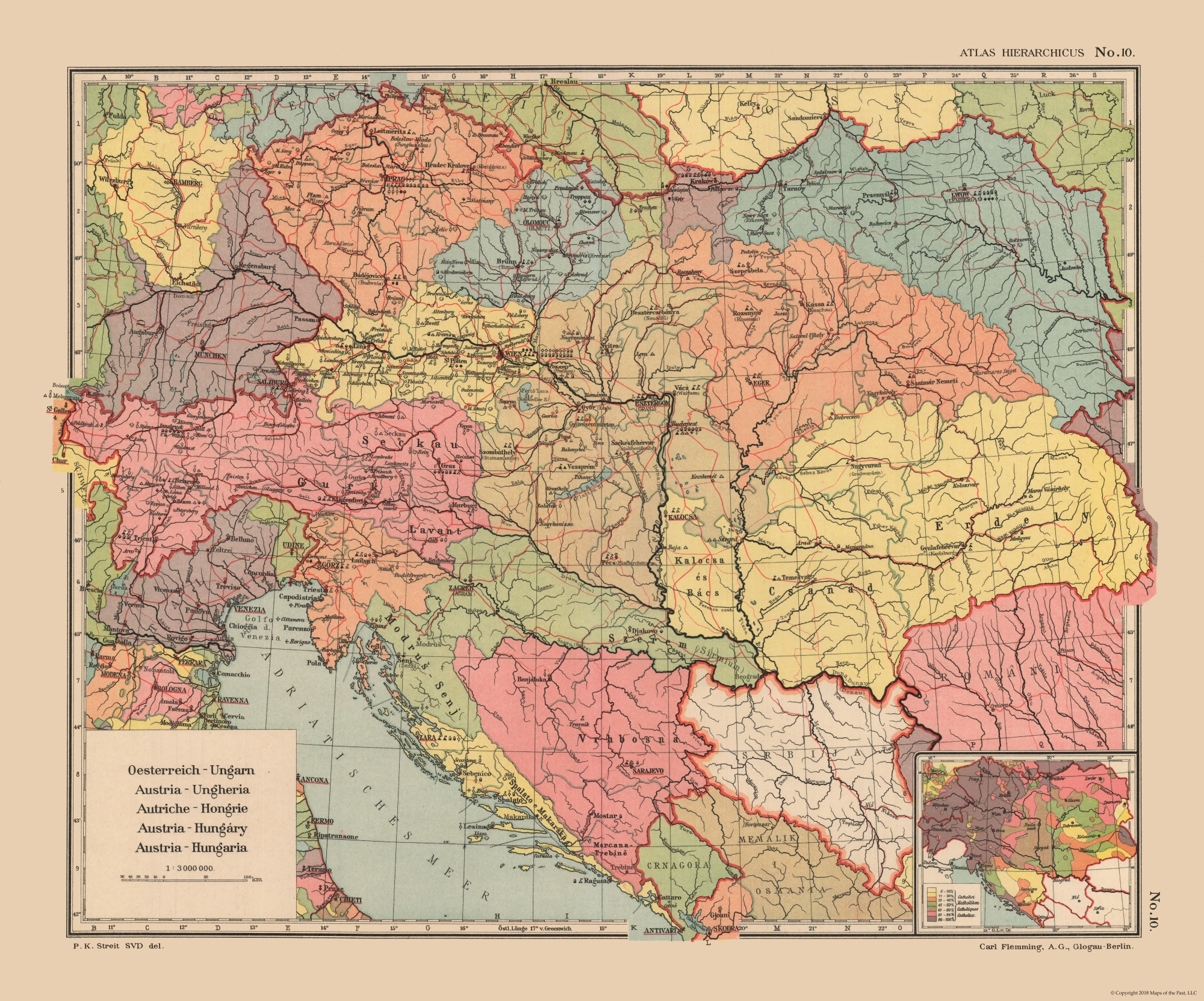 Old International Maps | Austria, Hungary - Streit\'s Atlas 1913 ...