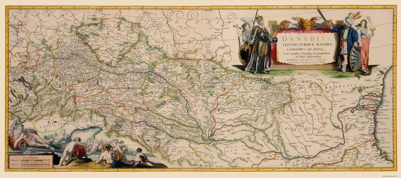 Old Europe Map - Danube River Course - Blaeu 1681 - 23 x 51.67 on greece on map, po river on map, thames river on map, yangtze river on map, elbe river on map, english channel on map, amazon river on map, alps on map, oder river on map, tigris river on map, euphrates river on map, don river on map, dnieper river on map, mosel river on map, ganges river on map, caspian sea on map, rhone river on map, strait of gibraltar on map, seine river on map, indus river on map,