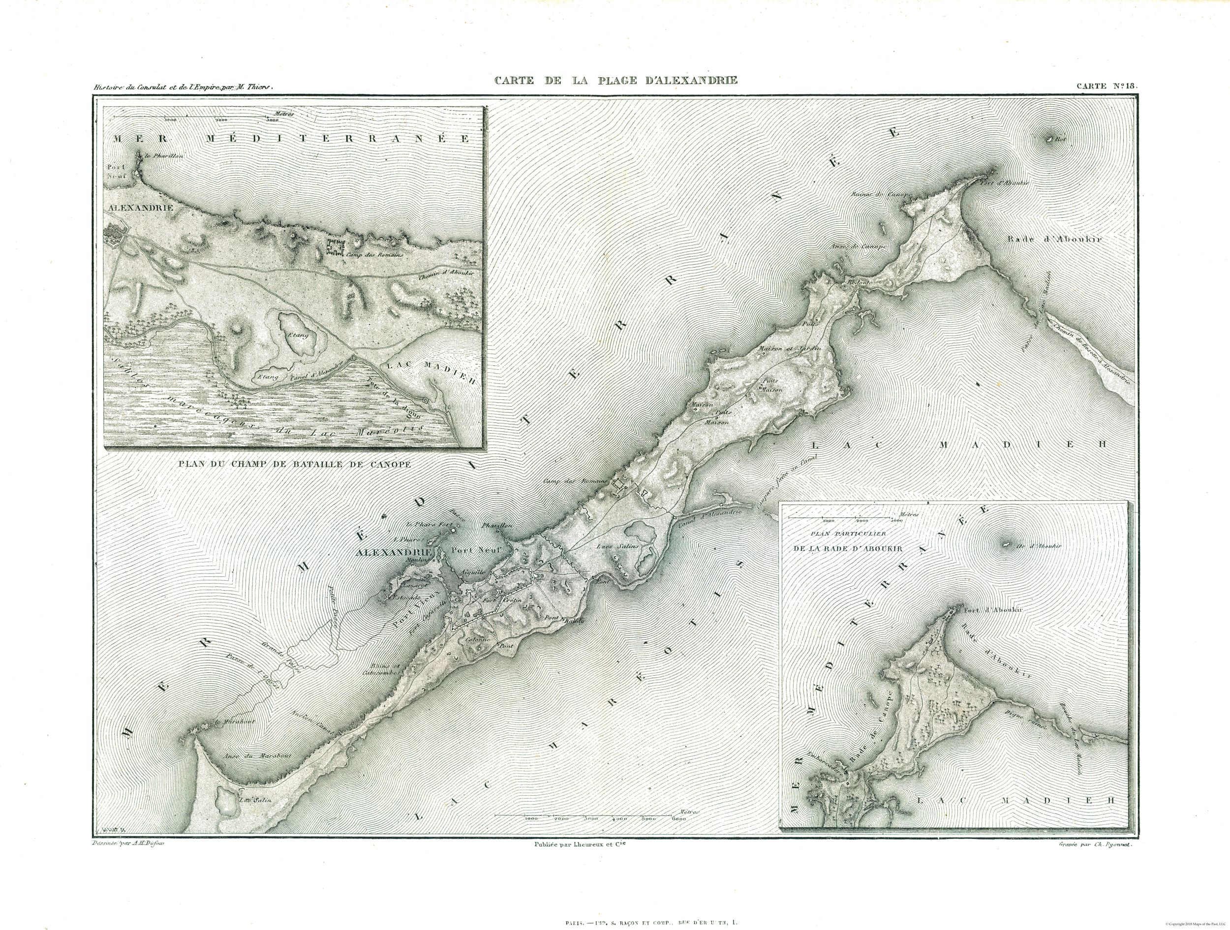 Other Wars | Alexandria - Egypt - Thiers 1866 - 30.40 x 23