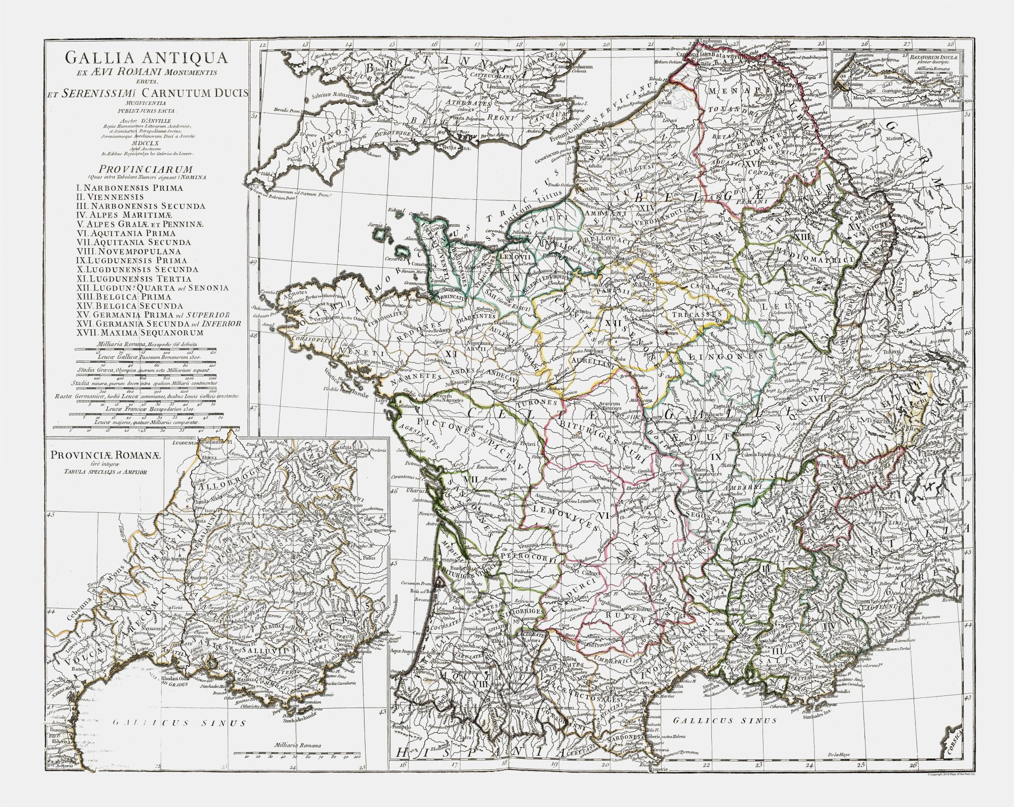 International Map - Ancient France - D'Anville 1799 - 28 92 x 23
