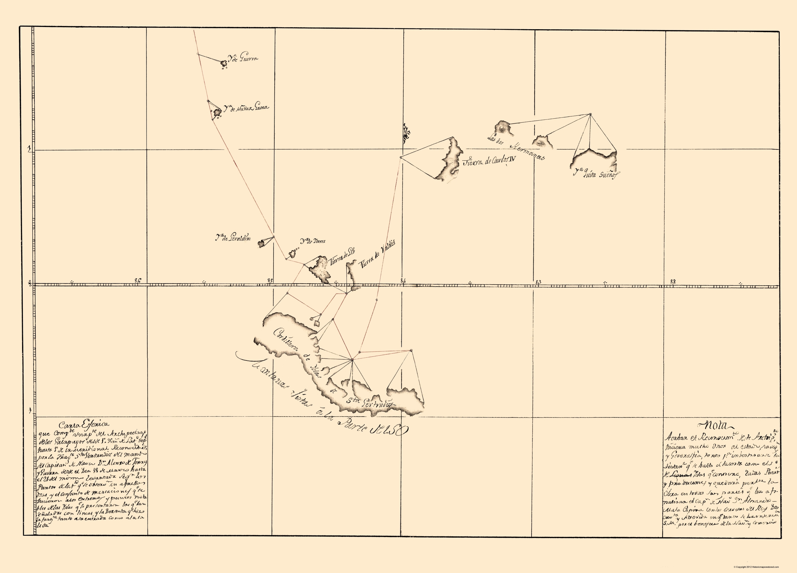 South America Map Galapagos Islands.Old South America Map Galapagos Islands Guerra 1700