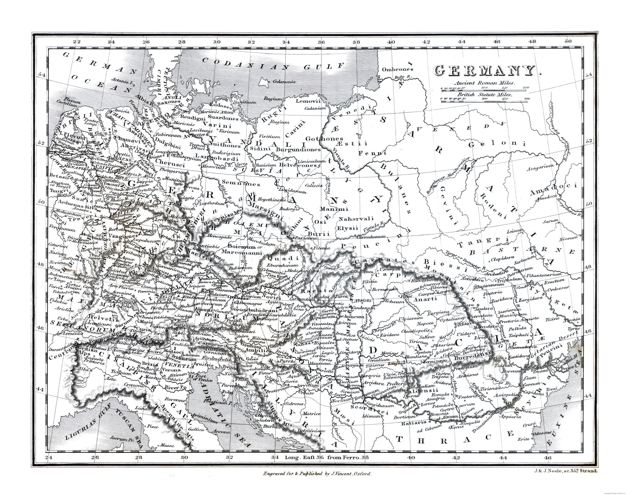 Map Of Germany To Color.Other Wars Germany Oxford 1828 29 06 X 23