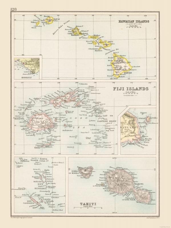 International Maps - Hawaii - Fiji - Tahiti - Bartholomew 1892 - 23 on map of carribean, map of bahamas, map of bali, map of malaysia, map of seychelles, map of brazil, map of austrailia, map of spain, map of new zealand, map of thailand, map of moorea, map of costa rica, map of switzerland, map of fiji, map of pacific ocean, map of kwajalein, map of south pacific, map of french polynesia, map of bora bora, map of hawaii,
