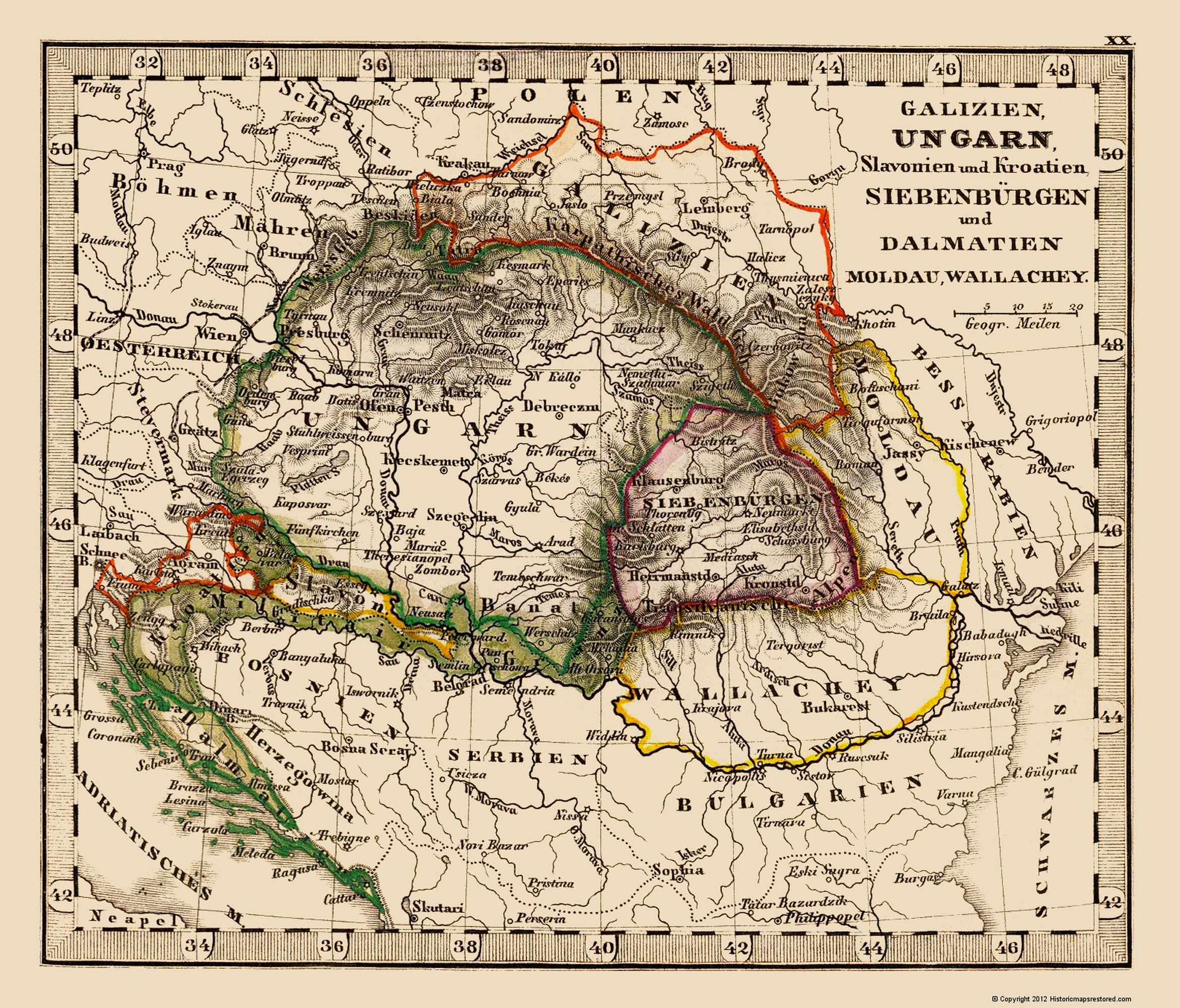 The Old Map Of Poland on