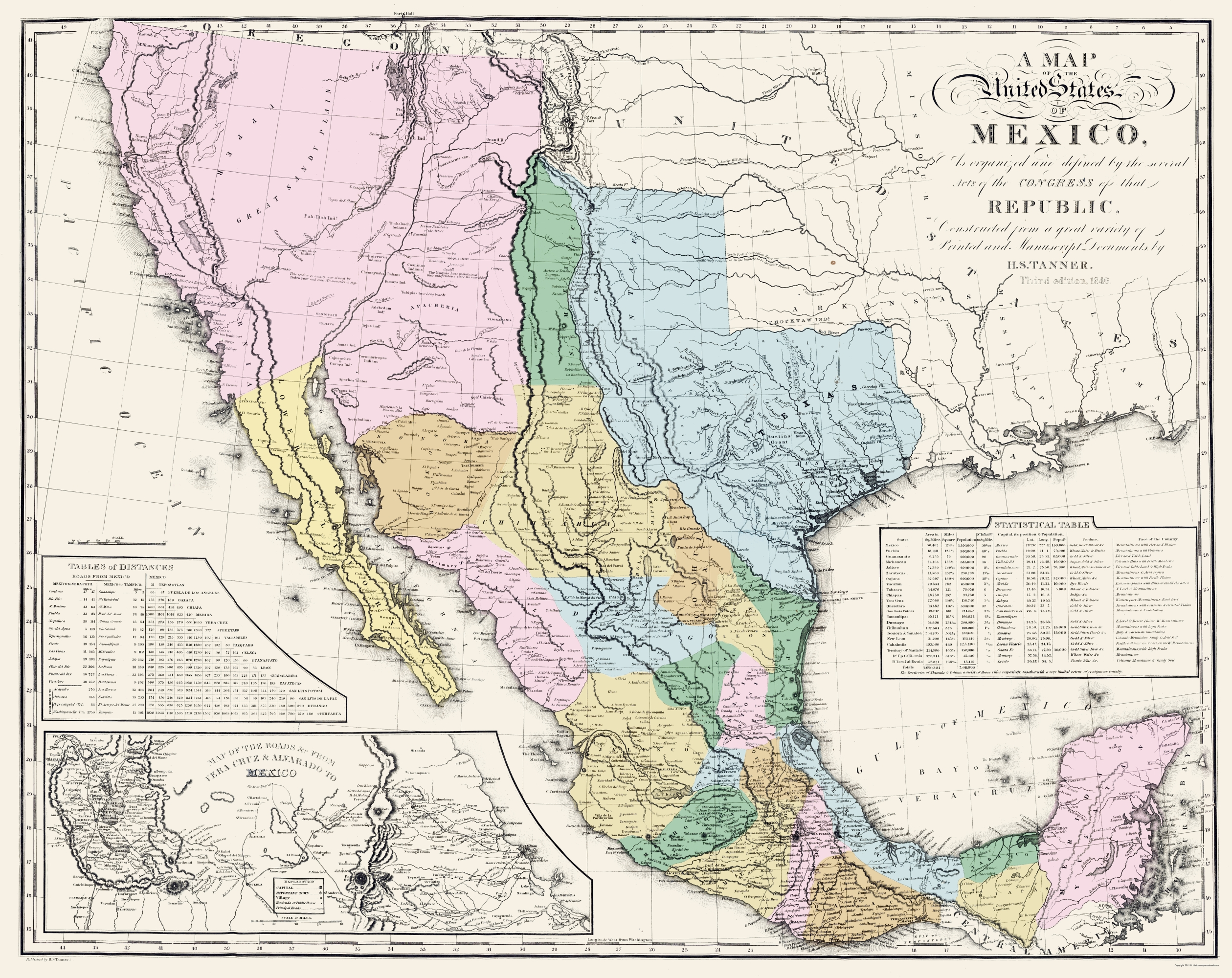 Old Mexico Map - Mexican States - Tanner 1846 - 23 x 28.97 on united kingdom, indonesia map states, connecticut river map states, mexico city, costa rica, nigeria map states, north america, australia map states, brazil map states, mexico flag, el salvador, sweden map states, south america, poland map states, cuba map states, continental united states map states, us maps with states, chile map states, colombia map states, dominican republic map states, the united states map states, southwest asia map states, ecuador map states, united states of america, canada map states, pakistan map states, colorado map states,