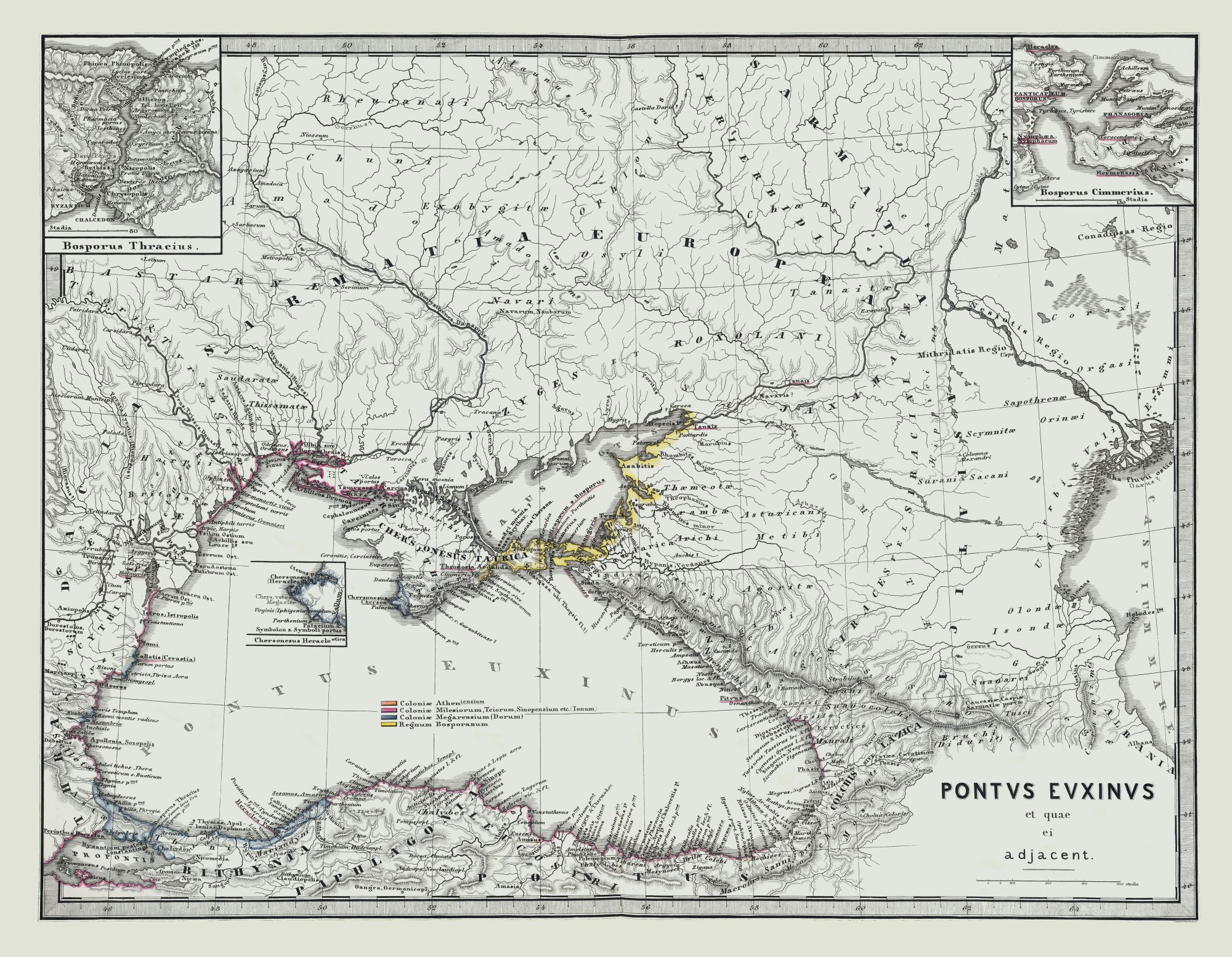 Old International Maps | Ancient Middle East - Spruner 1865 - 29.61 x 23