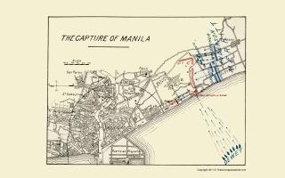 Spanish American War Philippines Map.Antique Spanish American War Map Prints
