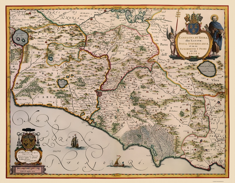 Old Italy Map - Rome Region - Blaeu 1640 - 23 x 29.46 on old map fl, old medieval europe map, 19th century rome, old world map, old waikiki hotels, old maps of kentucky, old map italy, imperial fora rome, old riviera hotel las vegas, medieval rome, old mesopotamia map, old rome restaurants, old map wallpaper, greece and rome, old map with compass, old hotel rome, republican rome, ancient rome, old map template, old map georgia,