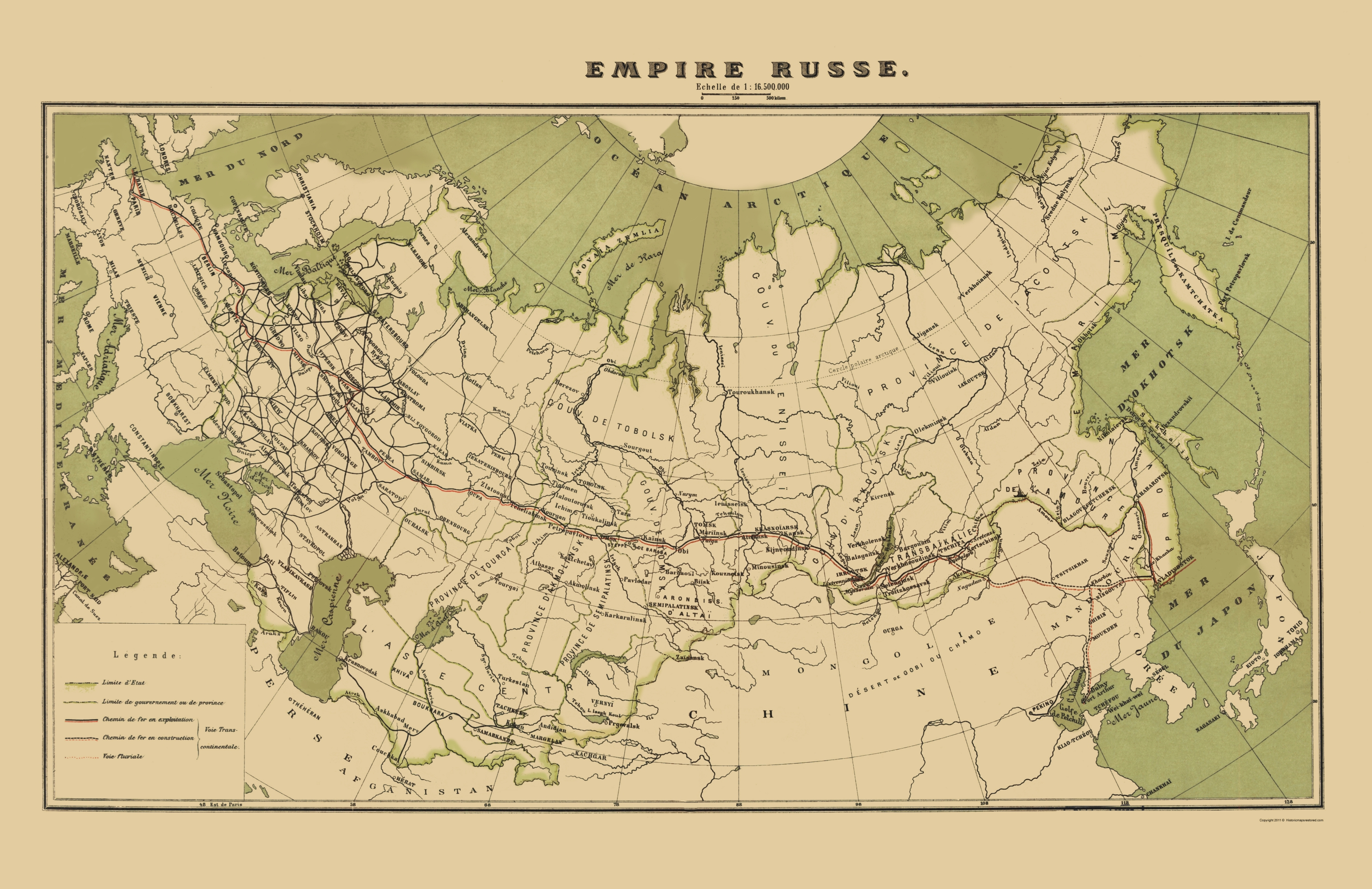 Old Russia Map Russian Empire Zavedenie 1900