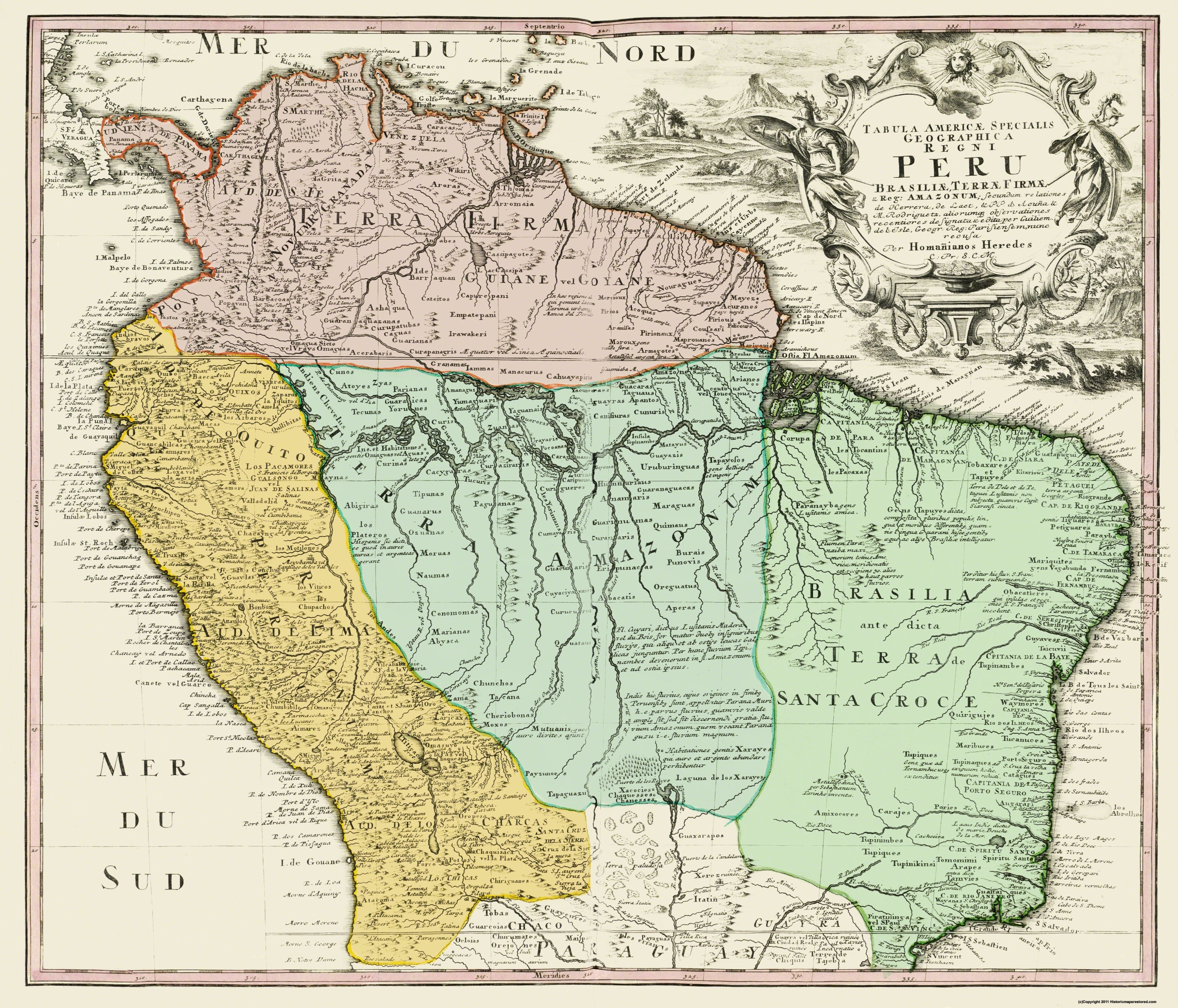 Old South America Map - Peru, zil - Homann 1748 - 26.88 x 23 on map of mexico, maps in south america, colombia map in america, map of africa, costa rica, map of patagonia south america, map of amazon basin south america, puerto rico, map of south america with argentina, machu picchu, map of the galapagos islands south america, lima south america, top 10 poorest cities in america, machu picchu peru south america, close up map of south america, peru in south america, nicaragua on map of south america, map of santiago south america, map of atacama desert south america, information on peru south america, map of aruba and south america, map of trinidad and tobago south america, political map of south america,