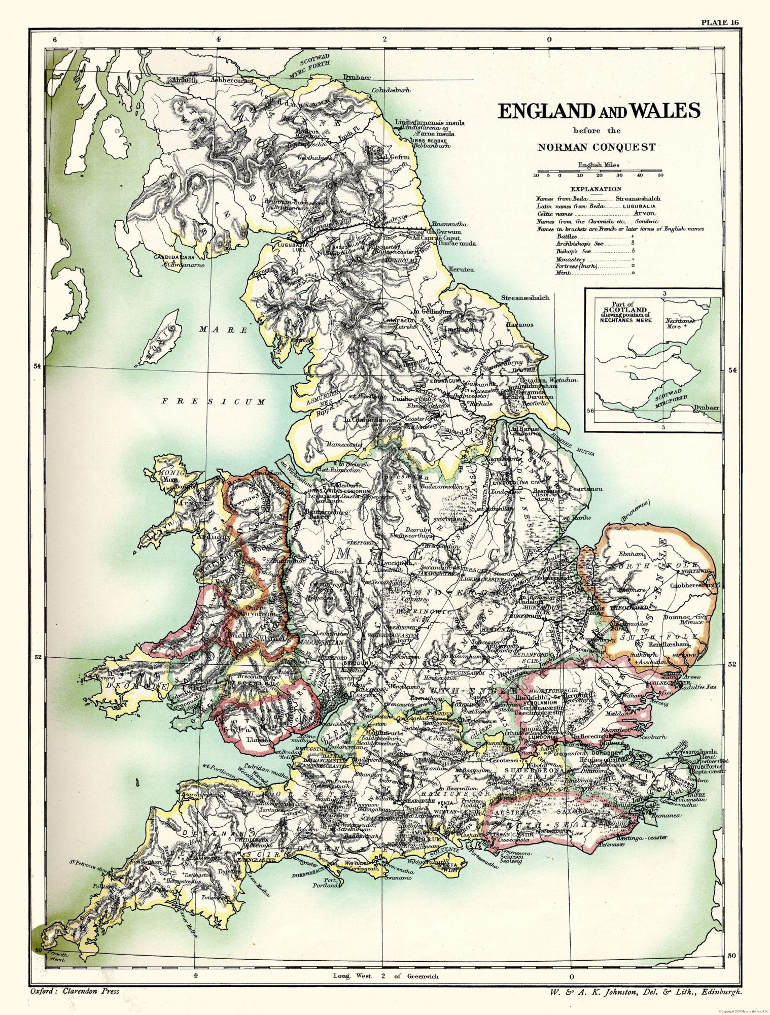 Poole England Map.Old International Maps England And Wales Before Norman Conquest