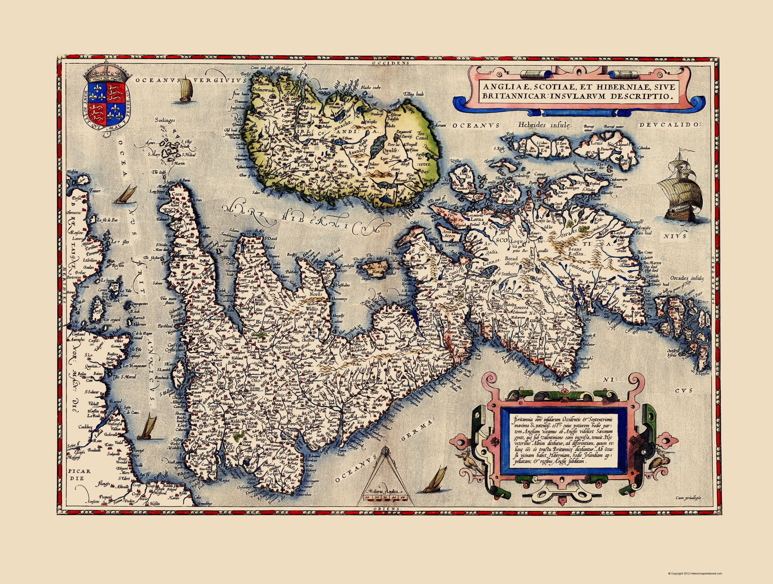 Old great britain map england scotland wales 1570 double tap to zoom gumiabroncs Gallery