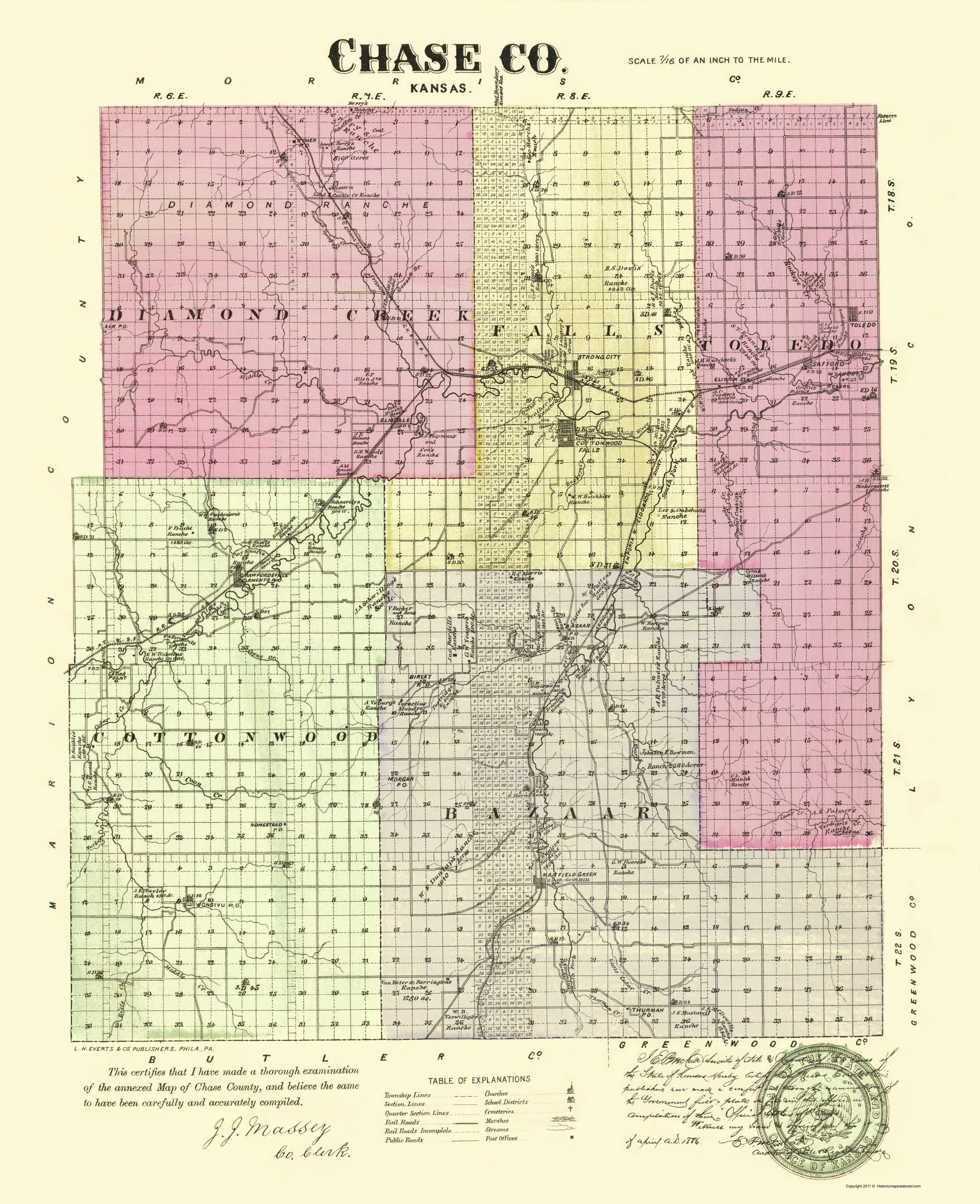 Old County Map - Chase Kansas - Everts 1887 - 23 x 28.25 on ks district map, parsons ks map, ks city map, johnson ks map, butler ks map, lansing ks map, ks us map, ks co map, nickerson ks map, wilson lake ks map, ks turnpike map, pratt ks map, counties in ok map, ks highway map, wamego ks map, ks area code map, ks state map, ks cities map, western ks map, kansas map,
