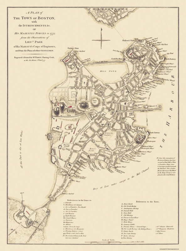 Boston Machusetts - His Majestys Corps 1775 - 23 x 31 on western ma map, sherborn ma map, florida ma map, ma on us map, ma railway map, ma world map, pittsfield ma street map, ma map with cities and towns, ma utility map, town of plymouth ma map, ma island map, new marlborough ma map, ma elevation map, ma transit map, ma county map, towns in ma map, ma region map, town of harvard ma map, lowell ma map, ma state map,