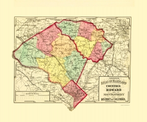 Old Maryland Topographic Map Prints | Maps of the Past