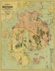 Rand McNally 1893-23 x 28.13 Mount Desert Island Maine