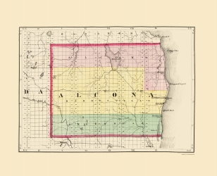 Old Michigan County Map Prints Maps Of The Past