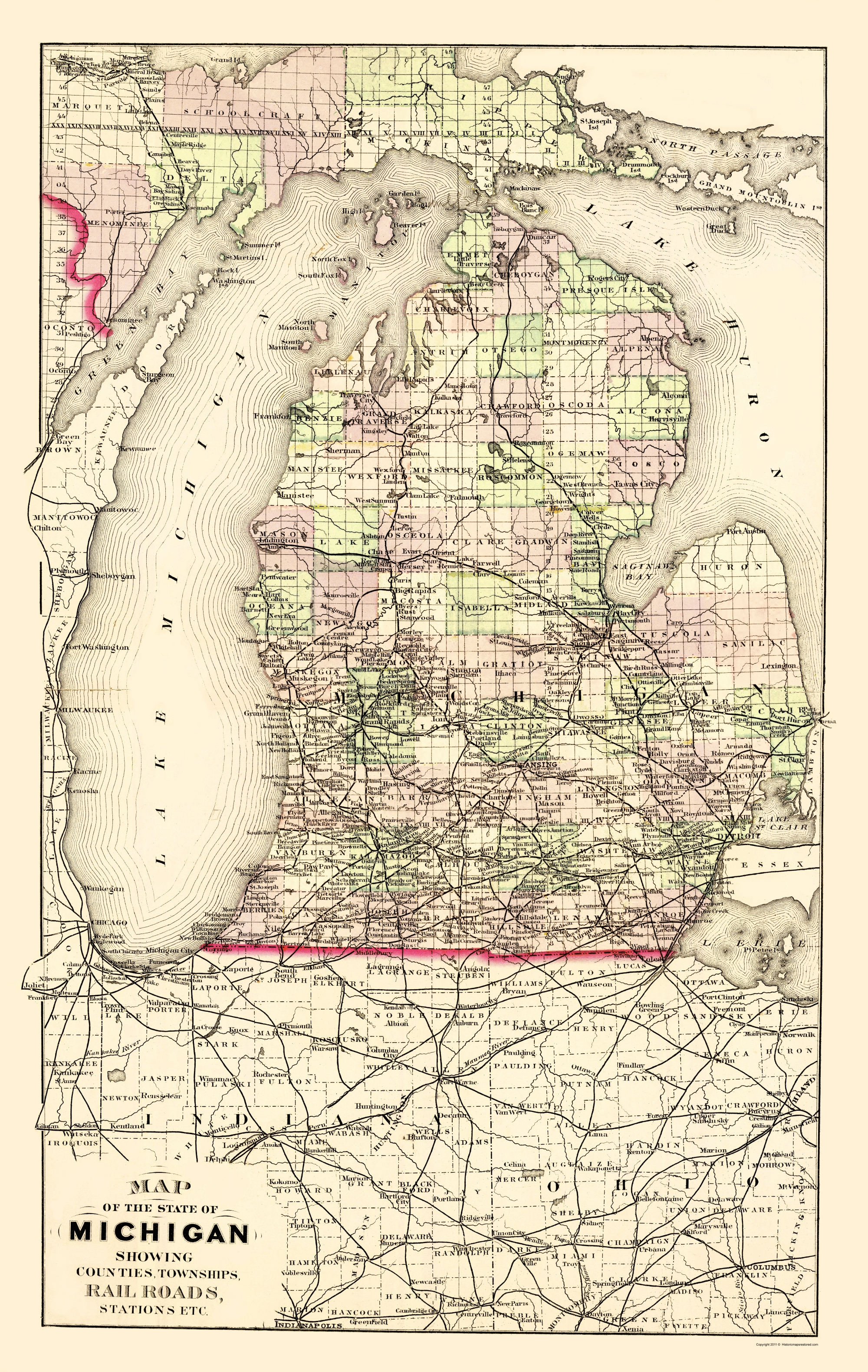 Old State Map - Michigan with Portion of Upper Peninsula 1873 - 23 on map of ishpeming michigan, st. ignace michigan, map of michigan hospitals, map of west virginia, lower peninsula of michigan, baraga michigan, map of lake michigan, iron mountain michigan, map upper michigan cities, map of upper michigan county, map of u p michigan, map of up, houghton michigan, map of michigan cities, marquette michigan, large map of michigan, map of ironwood michigan, map of canada and michigan, map of upper michigan casinos, porcupine mountains michigan,