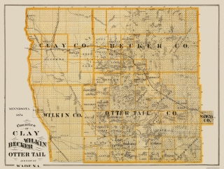 Old Minnesota County Map Prints Maps Of The Past - Mn maps