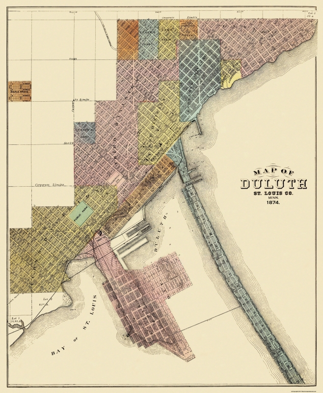Duluth Minnesota - Andreas 1874 - 23 x 27.94 on toronto map, los angeles map, chicago map, pittsburgh map, great lakes map, omaha map, des moines map, minnesota map, houston map, memphis map, wisconsin map, new orleans map, sioux falls map, milwaukee map, the twin cities map, cleveland map, seattle map, indianapolis map, mobile map, oklahoma city map,
