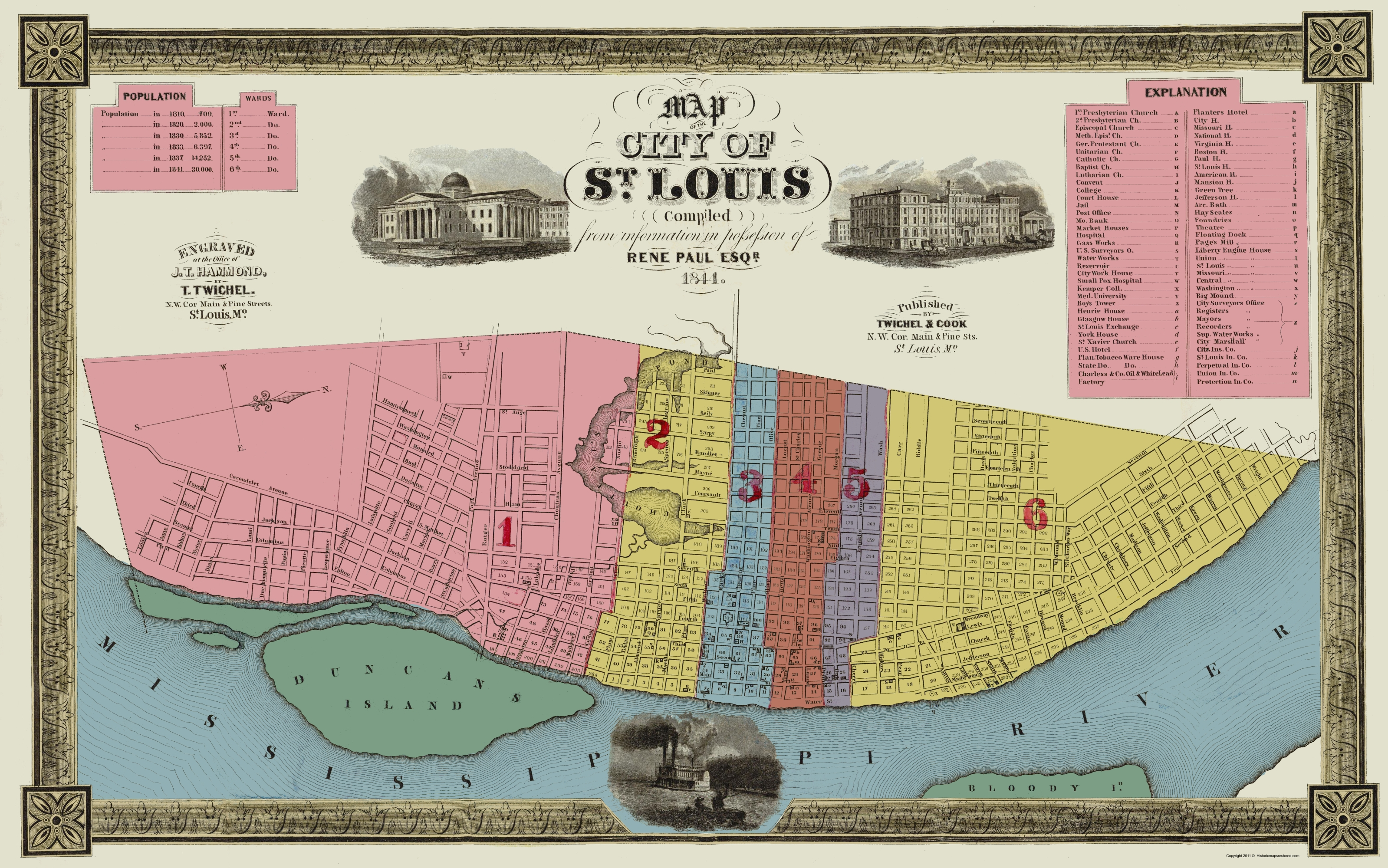 Old City Map St Louis Missouri Twichel - Us map st louis mo