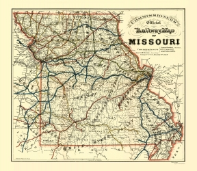 Old Missouri Railroad Maps Maps Of The Past - Mossouri map
